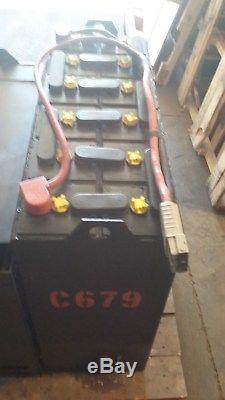 12-125-15 24 volt FORKLIFT BATTERY RECONDITIONED tested & serviced. VERY GOOD
