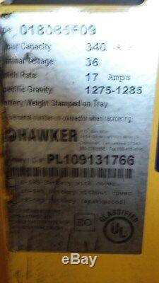 18-85-9 36 volt SWEEPER, SCRUBBER, FORKLIFT BATTERY tested GREAT & serviced