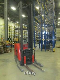 2008 Raymond 740-R45TT-A Electric ForkLift 348 Reach Truck withBattery Charger