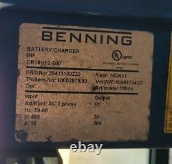 2011 Benning IHF 36V Forklift Battery Charger CR18HF3-300