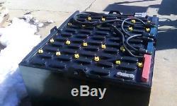 2014- 24-85-29 48 volt CROWN FORKLIFT BATTERY tested & serviced