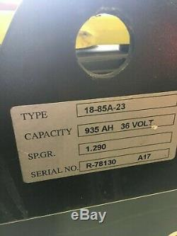 2017 MODEL 18-85-23 REACO Forklift Battery 36 Volt 935 AH UNDER FACTORY WARR