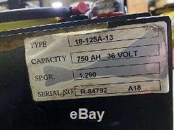 2018 36 Volt Reaco 18-125-13 Forklift Battery, Excellent Condition, Clean