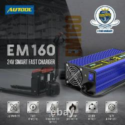 24V 30A Fast Charge Fully-Automatic Smart Portable Battery Charger 110V for Car