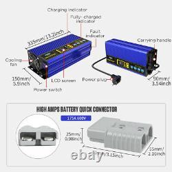 24V 30A Smart Fast Charger For 200AH300AH Lead-acid Battery Forklift Golf cart