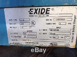 24 VDC Exide System 1000 G1-12-380 Forklift Battery Charger 208/240/480VAC