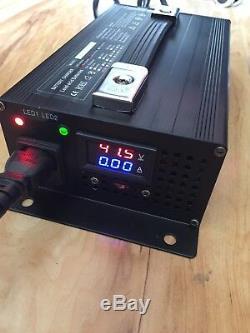 48v Yamaha Golf Cart Battery Charger Forklift 48Volt 15Amp Batteries foot plug