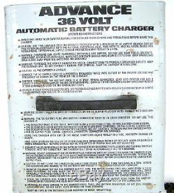 APA Advance 36 Volt/20 Amp Automatic Battery Charger Floor Cleaner