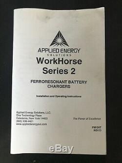 Applied Energy-Work Horse Series-2 36V Forklift Battery Charger 208/240/480V 3PH