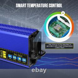Autobatterie-Ladegerät 24V Batterieladegerät 30A für Gabelstapler Batterietester