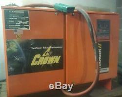 CROWN FORKLIFT BATTERY CHARGER, 36V, Model FR18HK-750E. Good working Condition