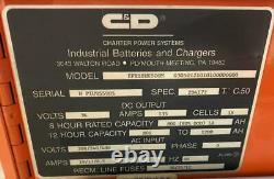 C & D EFR18HK800M Electric Forklift Battery Charger 36V 800 AH 208-240/480V 3Ph