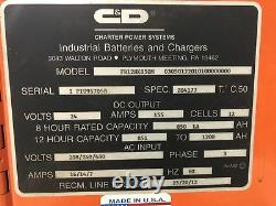C&D FR12HK850M Ferro Five FR Series 24V Fork Lift Battery Charger 155A 3 Phase