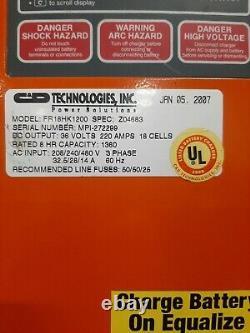 C & D FR18HK1200 Forklift Battery Charger, 36V, 220A, 1200AH 208/240/480V 3Phase