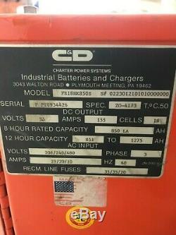 C & D Ferro Five FR18HK850s Forklift Battery Charger 36V