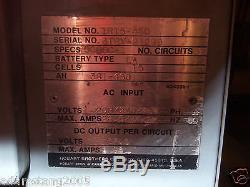 Charger forklift 208v 230v 460v 3 phase single 1 tow motor 15 cell 37.5 volt
