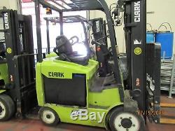 Clark Ecx20 4,000 Lb Electric Forklifts Year 2014 With Charger And Battery
