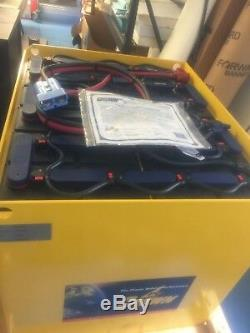 Clark Forklift Battery Model 24-125s-13 750 A. H. With Watering System