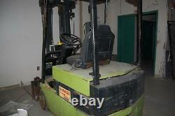 Clark TM20 4000 lb Capacity Electric 3 Wheel Forklift with Battery Charger