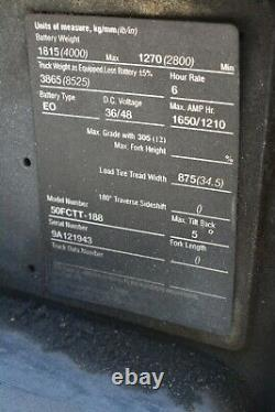 Crown Electric Forklift Model #50CTT-188 with Battery & Battery Charger