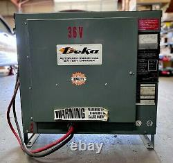 Deka 18C3-750 Forklift Battery Charger, 36V, 150A, 3Ph, Used