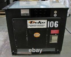 Deka 24V Electric Forklift Battery Charger 450AH 8HR 208 / 240 / 480 3PH 12 Cell