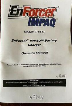 Enersys Enforcer Impaq Forklift Battery Charger El1 CM 3A BRAND NEW in Box