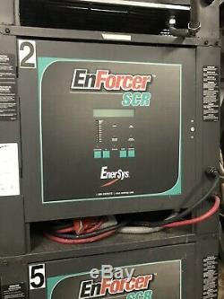 Enforcer EnerSys USED AUTOMATIC BATTERY CHARGER. 24 Volt, 550 AH, 3 Phase