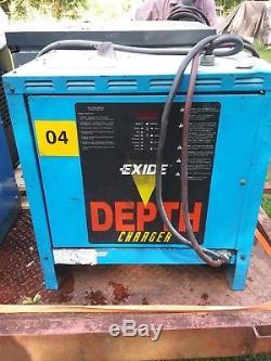 Exide 36V Industrial Forklift Battery Charger 208/240/480 3-Phase