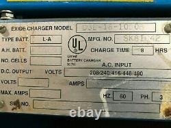 Exide D3e-18-1050b Forklift Battery Depth Charger