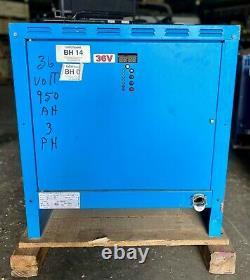 Exide Depth D3E-18-950B Forklift Battery Charger, 36V, 152A, Used