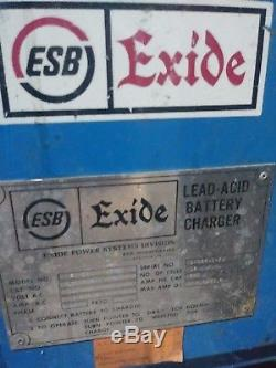 Exide Forklift Battery Charger Npc12-3-680n 24v Tested In Good Working Condition