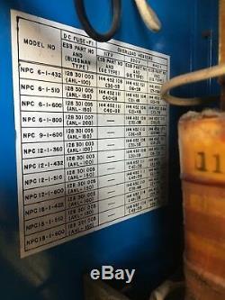 Exide Forklift Battery Charger Npc-6-i-800 220/440 Vac 1phase 6 Cells