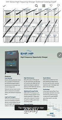 Exide GNB EHF ehf48t130m forklift charger