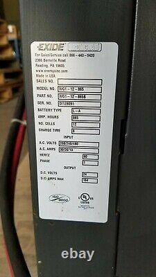 Exide Gold Wgi-12-865b 24v Forklift Battery Charger Input 208 Single 1 Phase