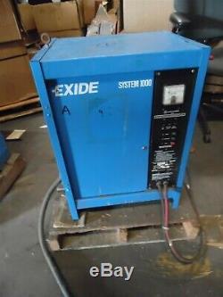 Exide System 1000 Industrial Forklift Battery Charger ES1-12-380
