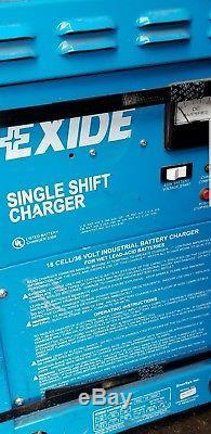 Exide single shift baterry charger 18 cell 34 volt forklift industustrial ssc