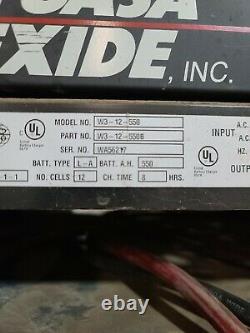 Exide workhogW3-12-550 Forklift Battery Charger, 24V, 3Ph, great shape used