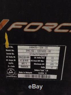 Force SMC16C-12074YG-00 Type LA Forklift Battery Charger 24V 74A 12 Cell