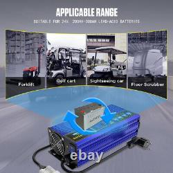 Forklift Battery Charger 24V 30A Golf Cart Floor Scrubber Smart Fast Charger