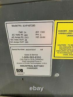 Forklift Battery Charger 3 Phase 48 Volts 280 Amps 480 Volt EHF-HP GNB
