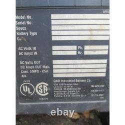 GNB 24V Electric Forklift Battery Charger 865AH 208/240/480 3ph
