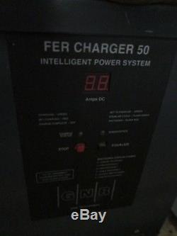 GNB FER50 24VDC Electric Forklift Battery Charger 1PH 380AH 110V 12 Cell