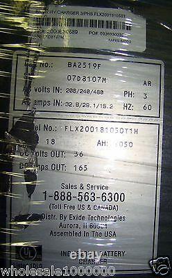 GNB FLX-200 Industrial Digital 36V Forklift Battery Charger 1050AH 208V 230 480V