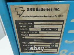 GNB Ferrocharge GTC12-180S1 Forklift Battery Charger 24V 180Ah 208/240/480v 1ph