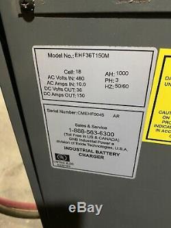 Gnb 36v 1000 Ah Forklift Battery Charger, Ex. Cond. / Fully Operational 3 Ph 480v