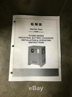 Gnb flx200 flx 200 36 volt 36v forklift battery charger 1050 ah 208 230 480