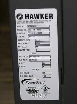 HAWKER PowerGuard LD 36V BATTERY CHARGER Electric Forklift 180A 1200AH 3Ph