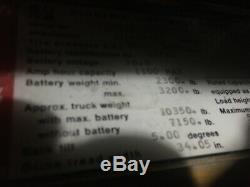 HYSTER 4 WHEEL FORKLIFT 5000LB CAP. 191 LIFT 42 FORKS, 36V WithBATTERY & CHARGER
