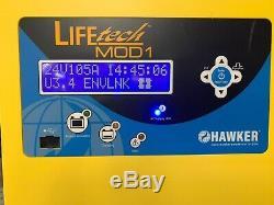Hawker Lifetech Mod 1 Fork Lift Charger 24V DC LTM1-24c-105G Single Phase 208 AC